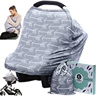 Car seat Canopy Nursing Cover - Multi use Baby Stroller and carseat Cover, Breastfeeding Nursing Covers, Boys and Girls Shower Gifts (Classical Arrows)