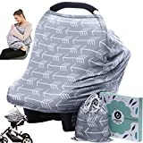 Multi-Use Nursing Cover, Stroller & Car Seat Cover & Scarf Gray Arrow Deal
