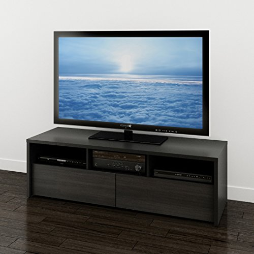 Sereni-T 60-inch TV Stand 210406 from Nexera, Black and Ebon