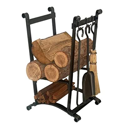 Enclume Design Compact Curved Log Rack with Tools