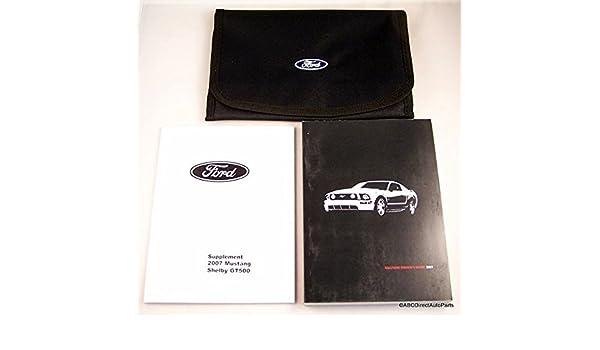 2007 mustang manual owners