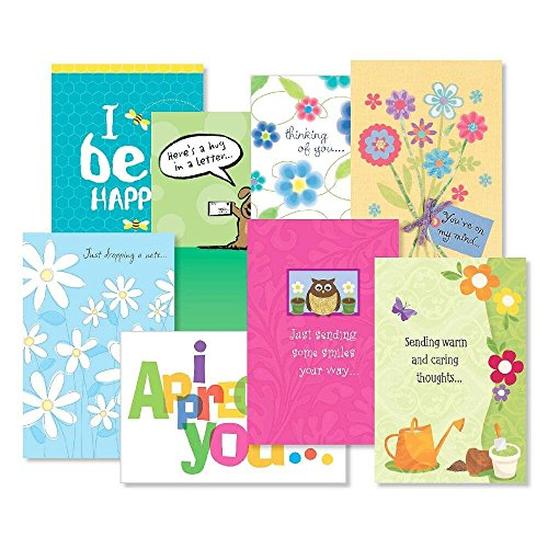 - Thinking of You Greeting Cards Value Pack - Set of 16 (8 Designs) Large 5