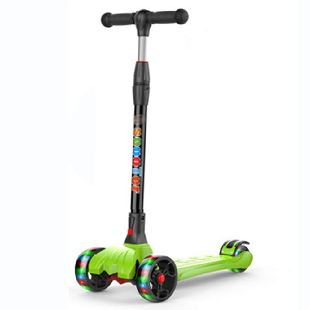 【後払い手数料無料】 キックスクーター三輪車スケートボードペダル式乗用スタントスクーターLED折りたたみTバーハンドルライトアップホイール付き調節可能な B07HCX9RVL Green B07HCX9RVL Green, 安来市:aaa0ff9a --- a0267596.xsph.ru