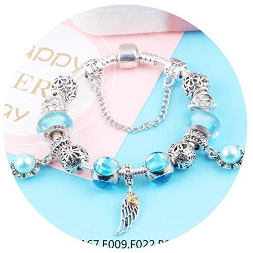 Rankei Small Fresh Style Sky Blue Series DIY Bracelets Jewelry,SL346,19cm -