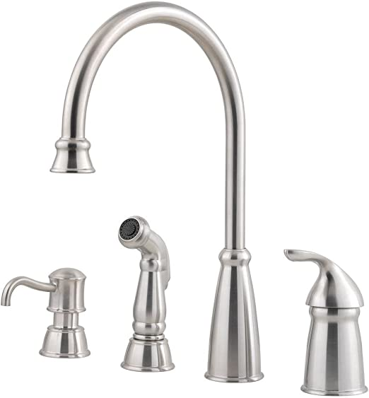 Pfister GT26-4CBS Avalon One-Handle Kitchen Faucet with Side Spray,  Stainless Steel