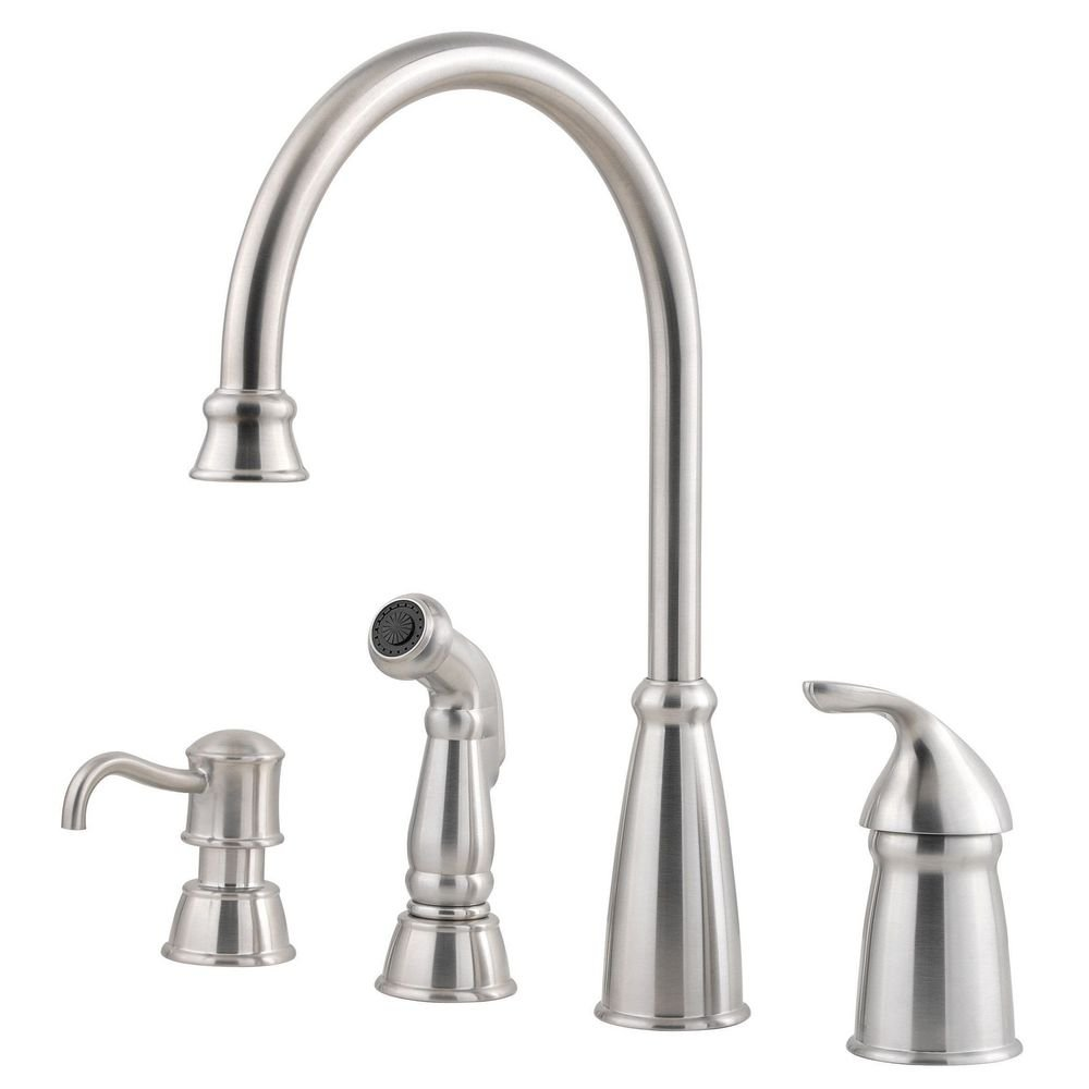 Pfister GT26-4CBS Avalon One-Handle Kitchen Faucet with Side Spray ...