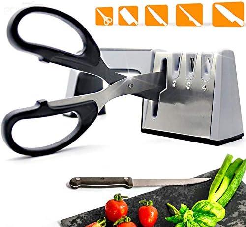 ナイフ削り、4段包丁やシザー削り、ツールはグラインド手動、ノンスリップグリップ、安全シャープにナイフ&シアーズすばやく簡単に復元します