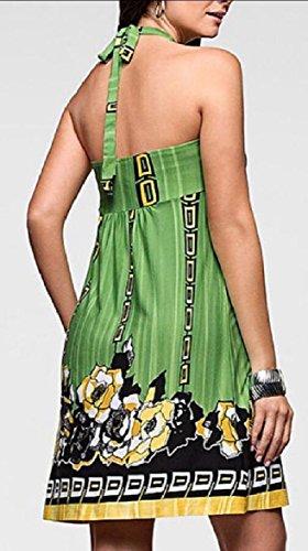 Senza Di Abito Stampato Dalla Capestro Donne Spalla Vestito Fuori Delle Maniche Maglietta Spiaggia Verde Jaycargogo 78wxfqFO