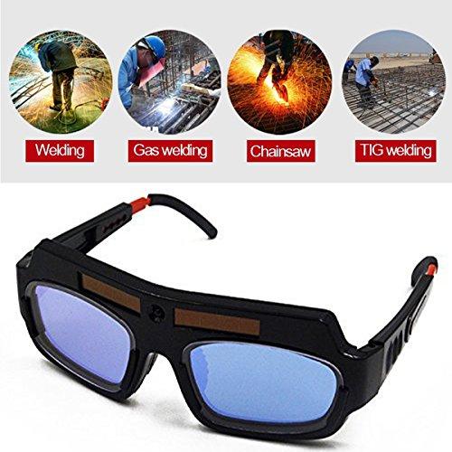 Black Solar Auto Darkening Welding Goggle Safety Protective Welding Glasses Mask Helmet Eyes Goggles Mask Anti-Flog Anti-glare Goggles