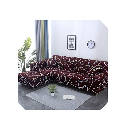 Sofa Cover Elastic Couch Cover Sectional Chair Cover It Needs Order 2Pieces Sofa Cover If Your Sofa is Corner L Shape Sofa,Color13,3 Seater and 3Seater