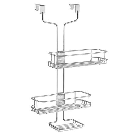 InterDesign Linea Adjustable Over-Door Shower Caddy, Hanging ...