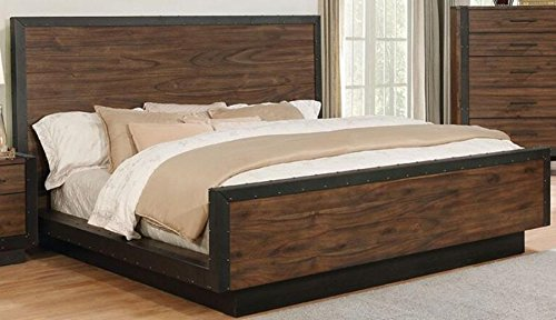 Scott Living Ellison Bourbon Brown Finish Queen Bed With