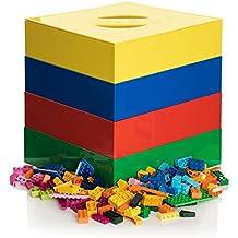 Original MADE IN USA Toy Brick Storage & Sorter Box | Award Winning BOX4BLOX Organizer Sorts & Stores Interlocking Blocks By Size | Ideal Kids Birthday & Christmas Gift Idea For Boys & Girls | 4 Tray