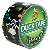 Duck Brand 280422 Printed Duct Tape, Skulls, 1.88 Inches x 10 Yards, Single Roll