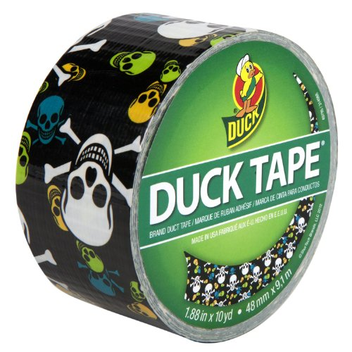 Duck Brand 280422 Printed Duct Tape, Skulls, 1.88 Inches x 10 Yards, Single Roll]()