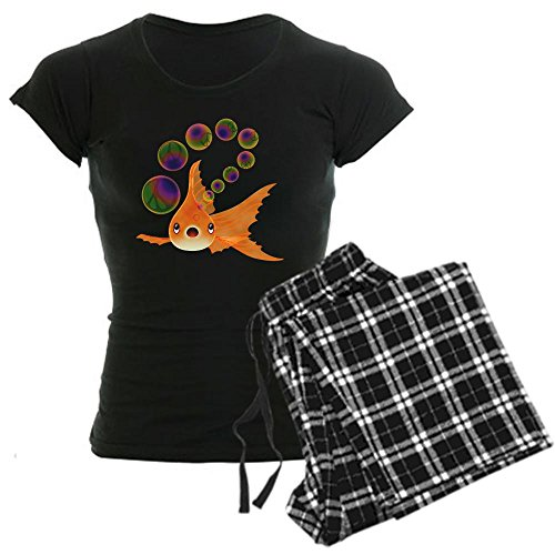 CafePress Goldfish and Peace Bubbles Pajamas Womens Novelty Cotton Pajama Set, Comfortable PJ Sleepwear