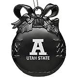 Utah State University - Pewter Christmas Tree Ornament - Blue