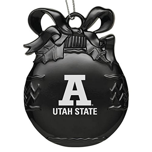 Utah State University - Pewter Christmas Tree Ornament - Black