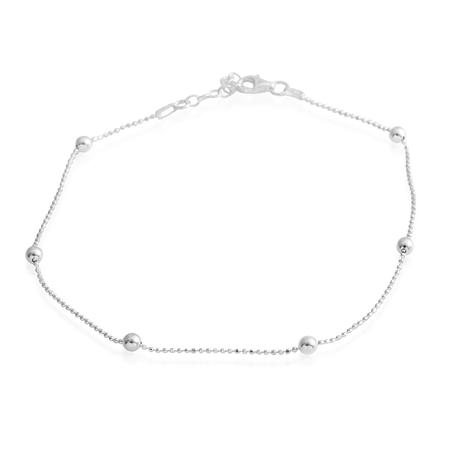 925 Sterling Silver Fashion Anklet for Women 10''