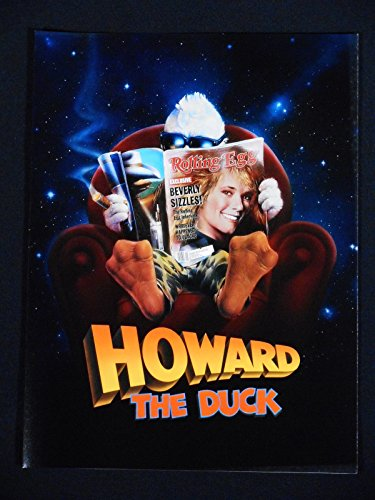 HOWARD THE DUCK 1986 * LEA THOMPSON * BEAUTIFUL PROMOTIONAL BOOKLET * RARE!!!!