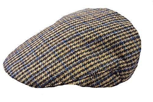 TOSKATOK® Men's Tweed Flat Cap Large / X-Large Sand (Fully Lined Tweed Cap)