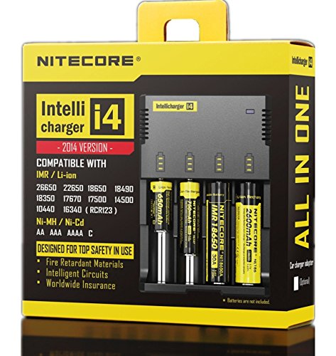 New 2014 version NITECORE i4 Intellicharge universal smart battery Charger with Eleccessory(TM) Car Charger For Li-ion / IMR / Ni-MH/ Ni-Cd 26650 22650 18650 18490 18350 17670 17500 17335 16340 RCR123 14500 10440 AA AAA AAAA C types