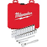 Deals on Milwaukee 48-22-9504 1/4-in Drive 28pc Ratchet & Socket Set