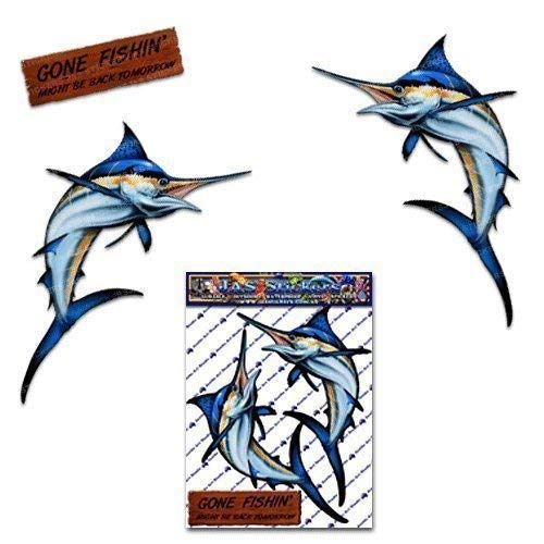 MARLIN Swordfish Large Animal Fishing Sea Surf Funny Pack Car Stickers Decals for Boat - ST00013TP_LGE - JAS Stickers