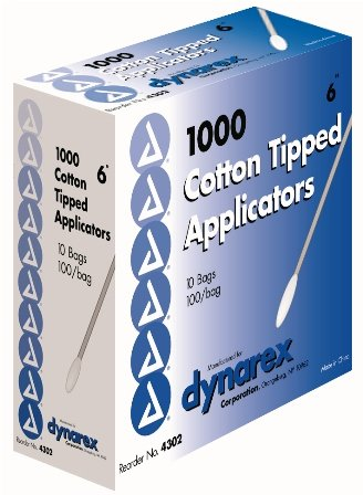 Dynarex Cotton Tip Applicator 6'' N/S - 10/10/100(10M)/Cs