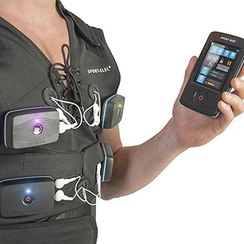 L//L//XL Noir SPORTELEC Gilet Combi ELECTROSTIMULATION Compatible MULTIMARQUES Accessoire ELCTROSTIMUALTION Adulte Unisexe