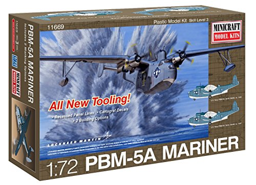 Minicraft Martin Mariner PBM5/5A with 2 Marking Options Model Kit, 1/72 -