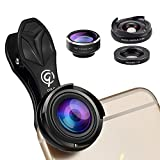 3 in 1 Premium HD Cell Phone Camera Lens Kits With 198° Fisheye Lens & 0.6X Super Wide Angle Lens & 10X Macro Lens Universal for iPhone 7 6 / 6s plus SE Samsung HTC Google Huawei LG Ipad(G&C)