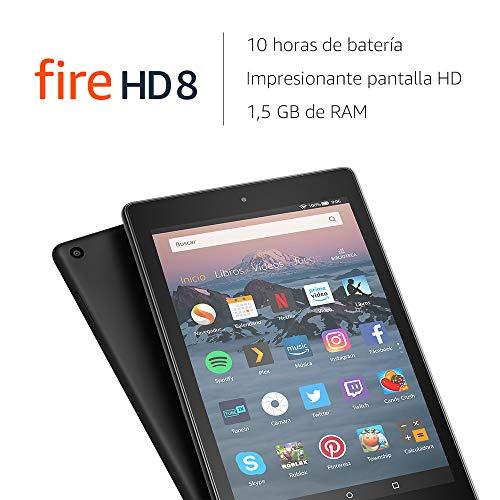 Tablet Fire HD 8 | Pantalla HD de 8 pulgadas, 16 GB, negro, incluye ofertas especiales (Reacondicionado)