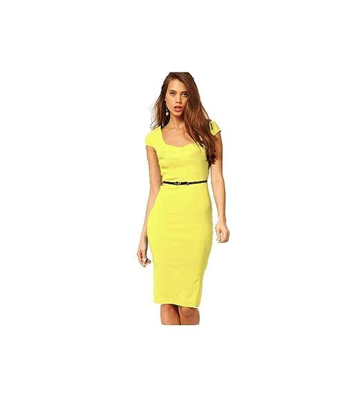 on sale 2445e c0238 kleider damen sexy knielang kleid damen elegant kleider lang Party Cocktail  OL Slim Fit Frauen Stretch Bodycon Midi dress,Multi-Farbe zu wahlen,GroBe  ...