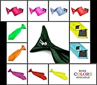 Moda Di Raza - Boy's NeckTie Solid Color Clipon Polyester Tie - Many Colors