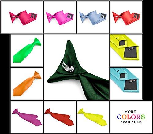 Many Colors Moda Di Raza Boys NeckTie Solid Color Clipon Polyester Tie