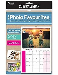 2017 insert create print your own photos a4 spiral bound wall 2018 insert your own photos a4 spiral bound wall hanging calendar solutioingenieria Gallery