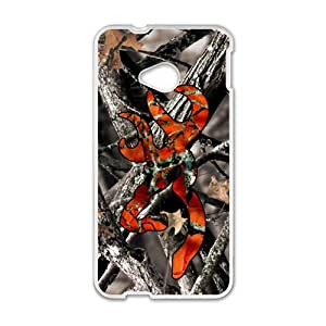 Happy Browning Camo Deer Hunter Cell Phone Case for HTC One M7