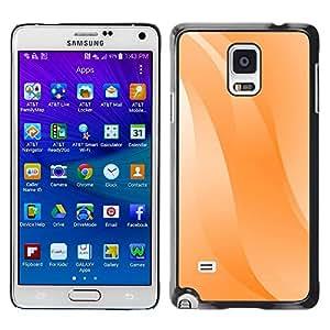 Paccase / SLIM PC / Aliminium Casa Carcasa Funda Case Cover para - Wavy Lines Orange Pastel White - Samsung Galaxy Note 4 SM-N910F SM-N910K SM-N910C SM-N910W8 SM-N910U SM-N910