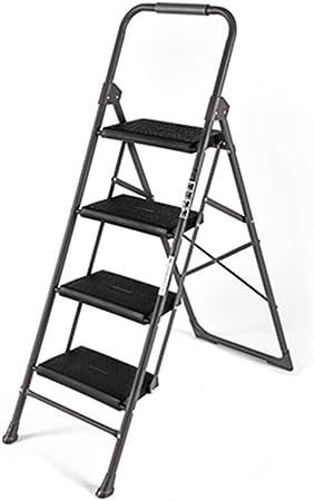 XSJZ Escalera Plegable, 4 Pasos Compacto Portátil Plegable con Apoyabrazos Escalera de Escalada Escalera Mecánica Sitio Interior Escalera de Mano para Hombre Escalera Plegable: Amazon.es: Hogar