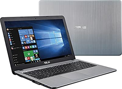 Asus VivoBook X540SA 15.6-Inch Laptop ( Intel Quad Core N3700 2.4GHz, 4GB RAM, 500GB HDD, Windows 10), Silver gradient IMR with hairline