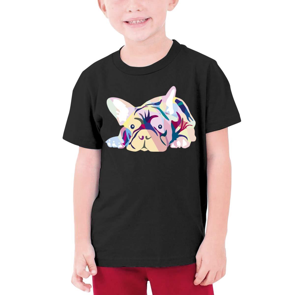 Fzjy Wnx Pink French Bulldog Boys Short Sleeve Shirts