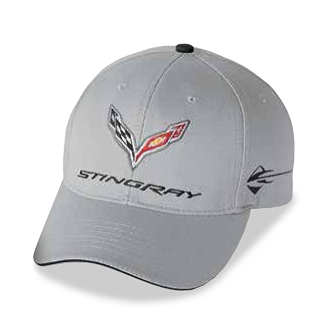 602b43a7dcee1 C7 Corvette Stingray Car Color Matching Hat Cap - Embroidered (Cyber Grey)