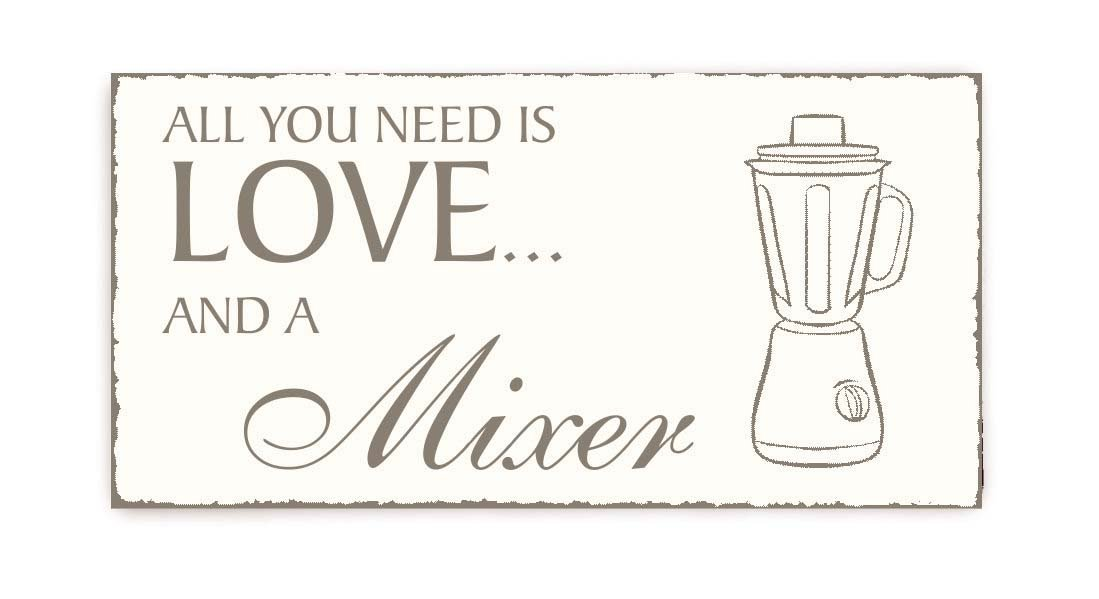 Placa decorativa, « All You Need is Love And A Licuadora » Vintage ...