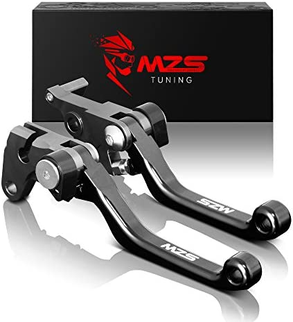 Black MZS Pivot Levers Brake Clutch CNC compatible Yamaha YZ250FX 2015-2018// YZ450FX 2016-2018