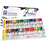 Premium Oil Pastels 48 Assorted Colors Non Toxic, Smooth Blending Texture, Ideal For All Artist Levels