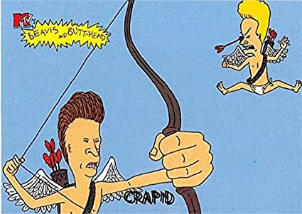 Beavis and Butthead trading card 1994 Fleer Ultra 6916 Cupid – Beavis and Butthead Birthday Card