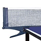 Luniquz Table Tennis Net and Post Set Easy and Fast Assemble 69' Pro Steel Pingpong Replacement Net with Spring Activated Clip Set for Training & Competition