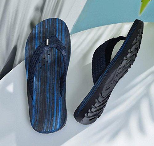 Casual Scarpe Infradito Esterno per Darkblue di Uomo Sandali Gomma da da Spiaggia Infradito Passeggio CHENGXIAOXUAN Ragazzo Fettuccia da da Pantofole PqBdAB1