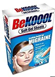 BeKoool Cooling Relief for Migraine Soft Gel Sheets, Pack of 3